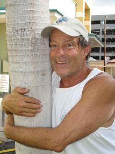 Captain Charles Moore, founder of Algalita, the director of our ship and as you can see, a self-proclaimed tree hugger