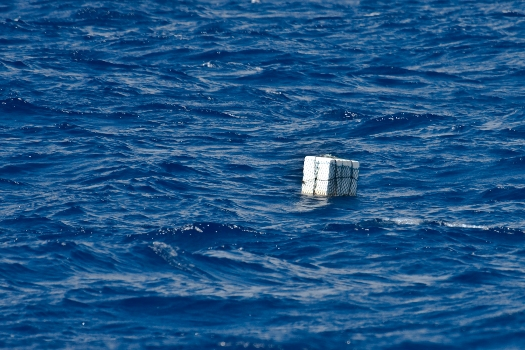 This is a square Styrofoam float wrapped in a net that we saw from 150 yards away. Photo Jeff Ernst